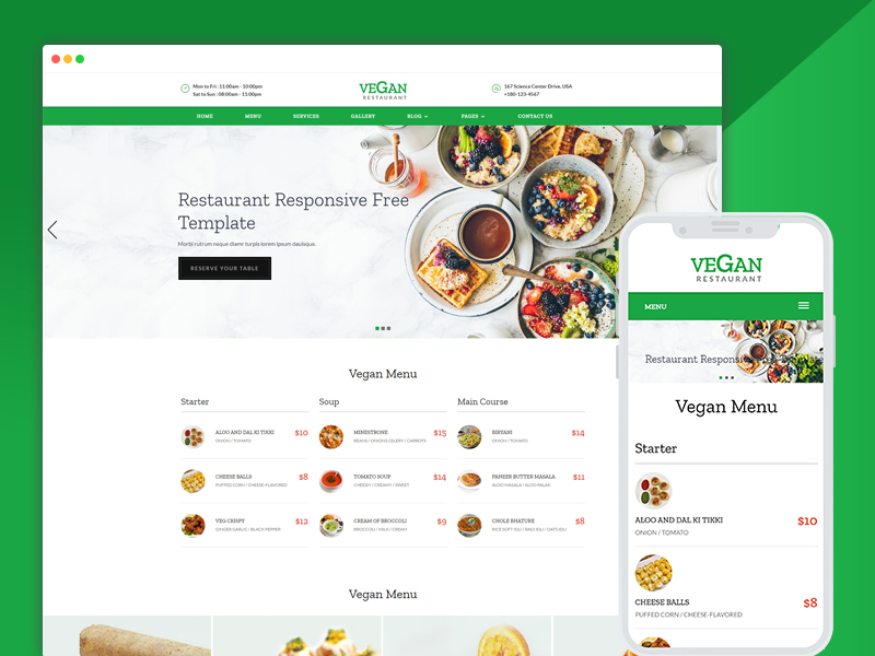 Best bootstrap responsive web design templates ease template beautiful restaurant hotel web design templates pronofoot35fo Gallery