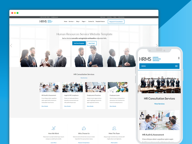 hrms human resources website template