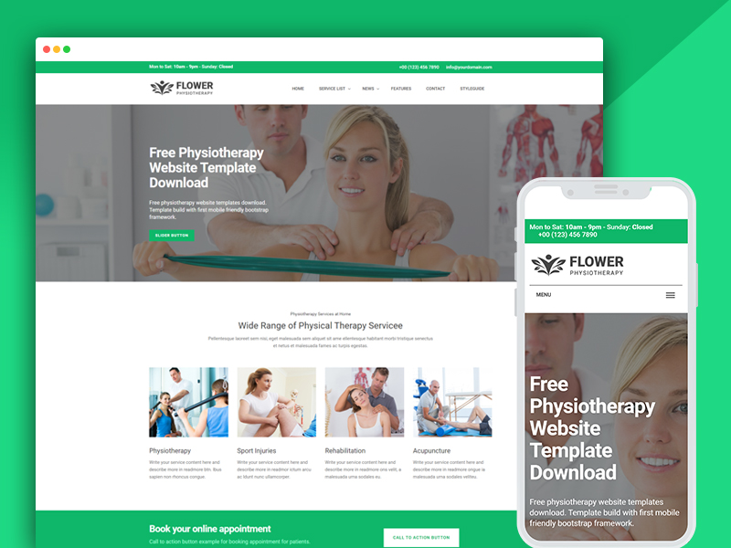 physiotherapy website templates