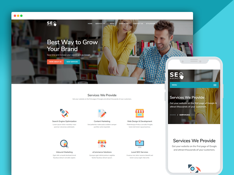 SEO digital agency marketing responsive website template