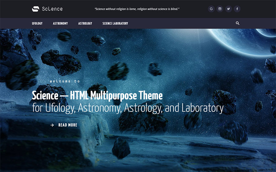Science - Multipurpose HTML5 Website Template