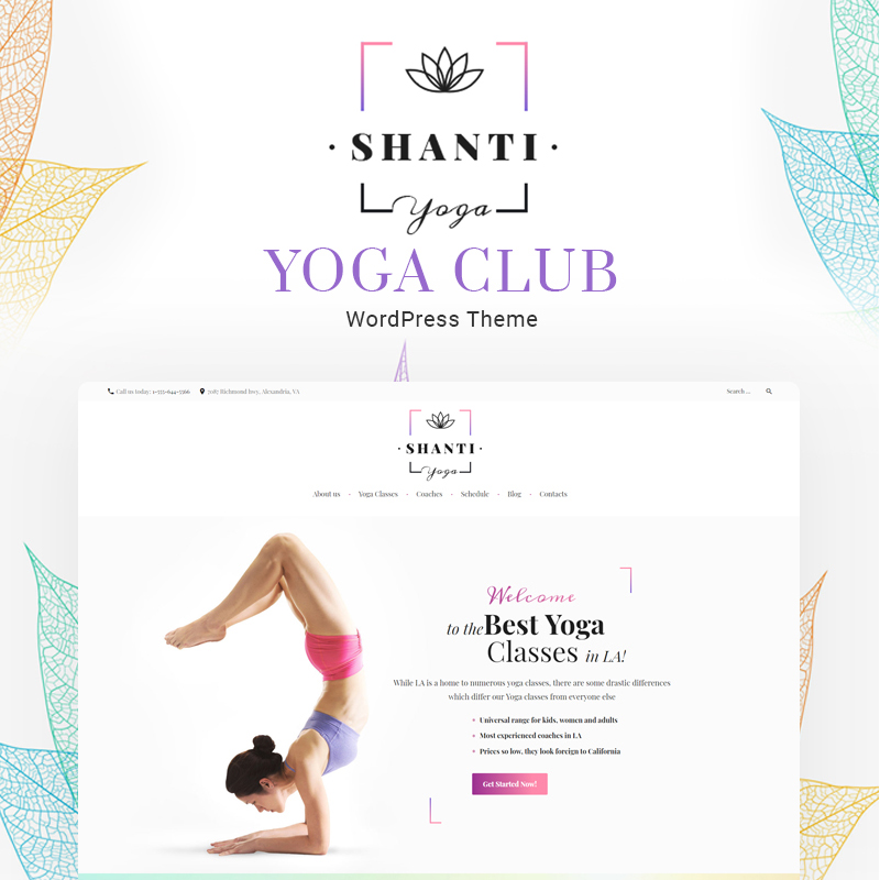 Shanti Yoga Club WordPress Theme