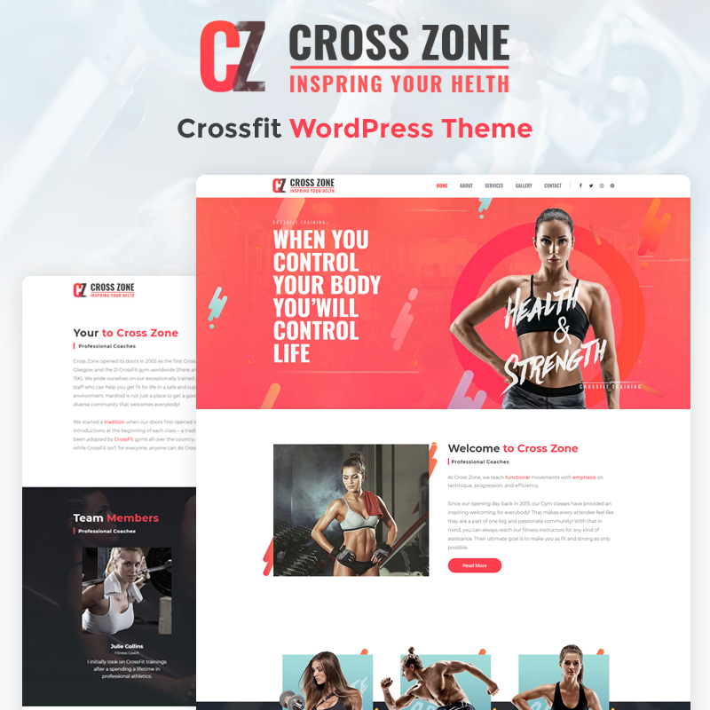 Crossfit Studio Elementor WordPress Theme