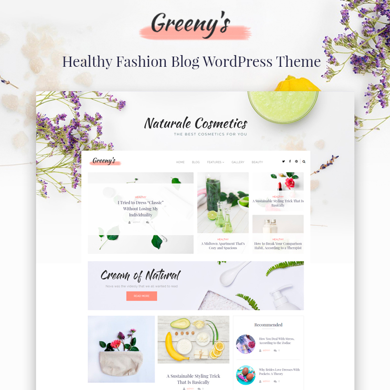 Fashion yoga WordPress theme