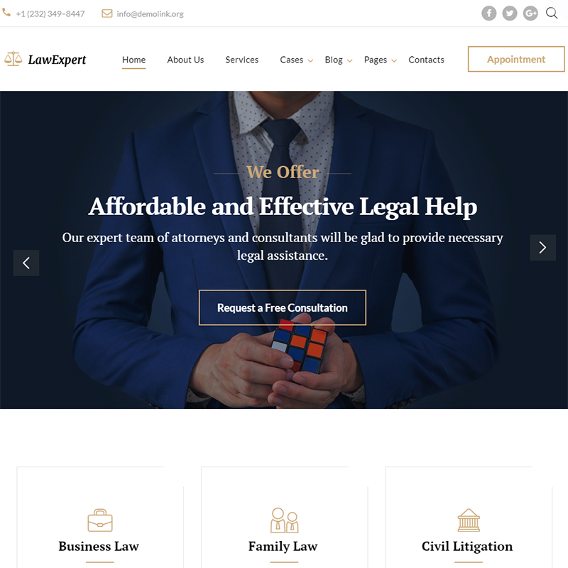 LawExpert - Lawyer & Attorney Website Template