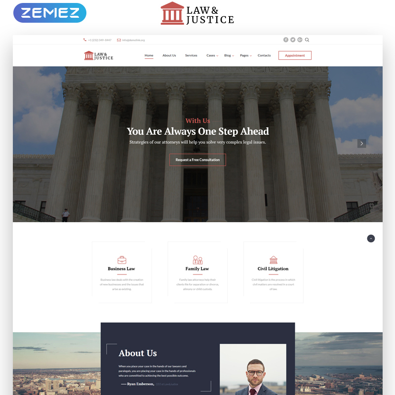 Law & Justice Multipage HTML Template