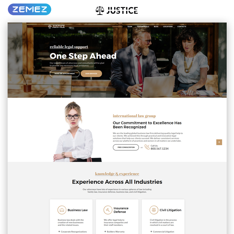 Attorney Agency Landing Page HTML5 Template