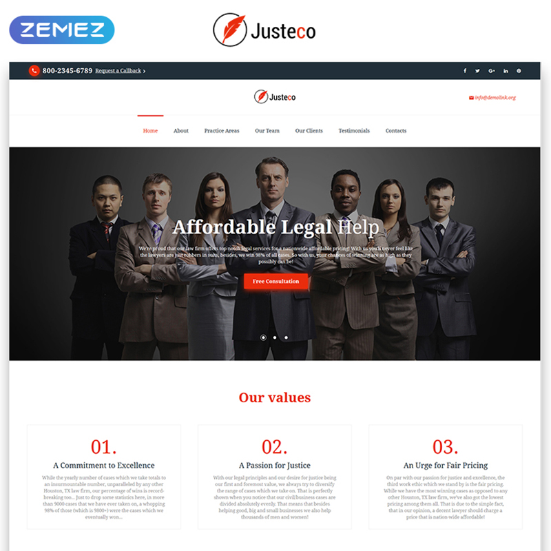Law Landina Page HTML Template