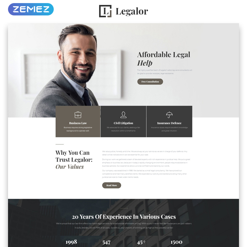 Law Responsive HTML Theme
