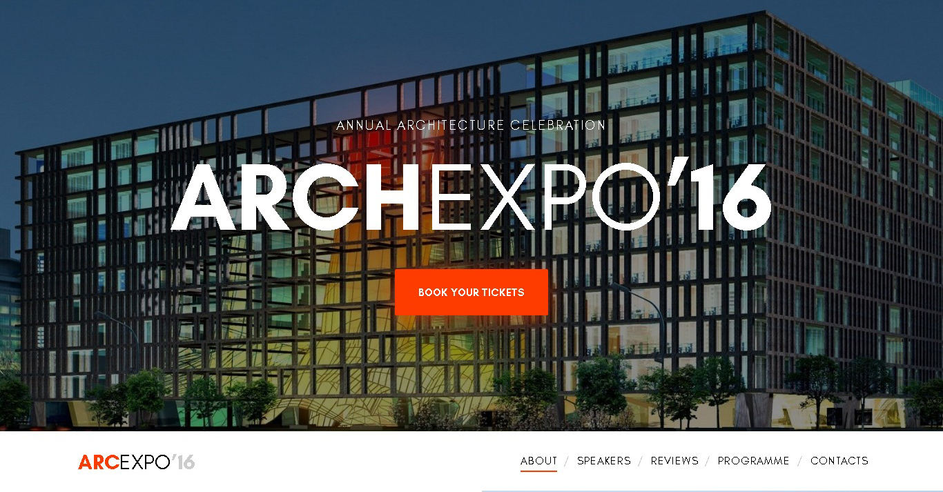 architecture expo website template event template