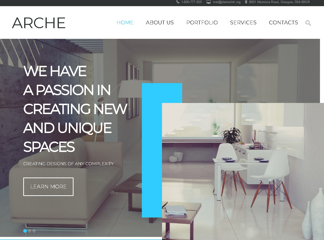 archi portfolio website template