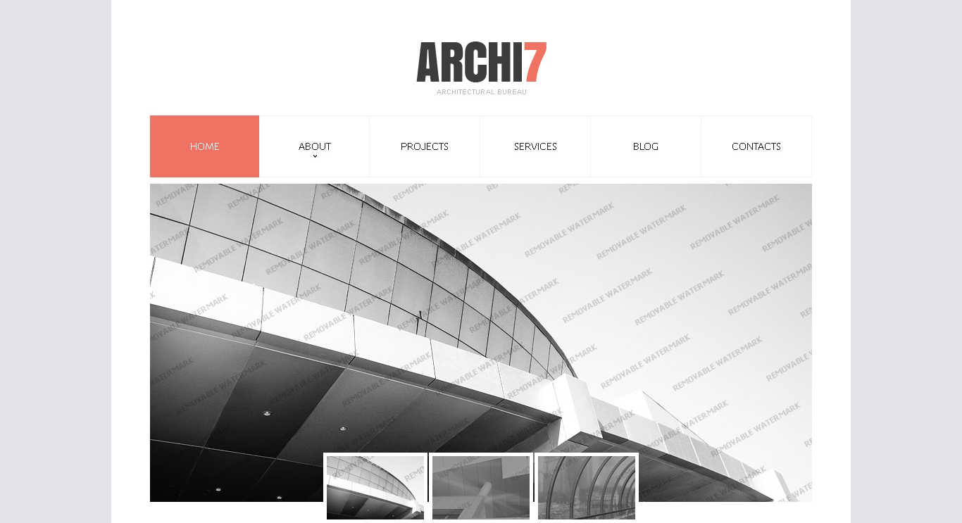 archi7 responsive website template