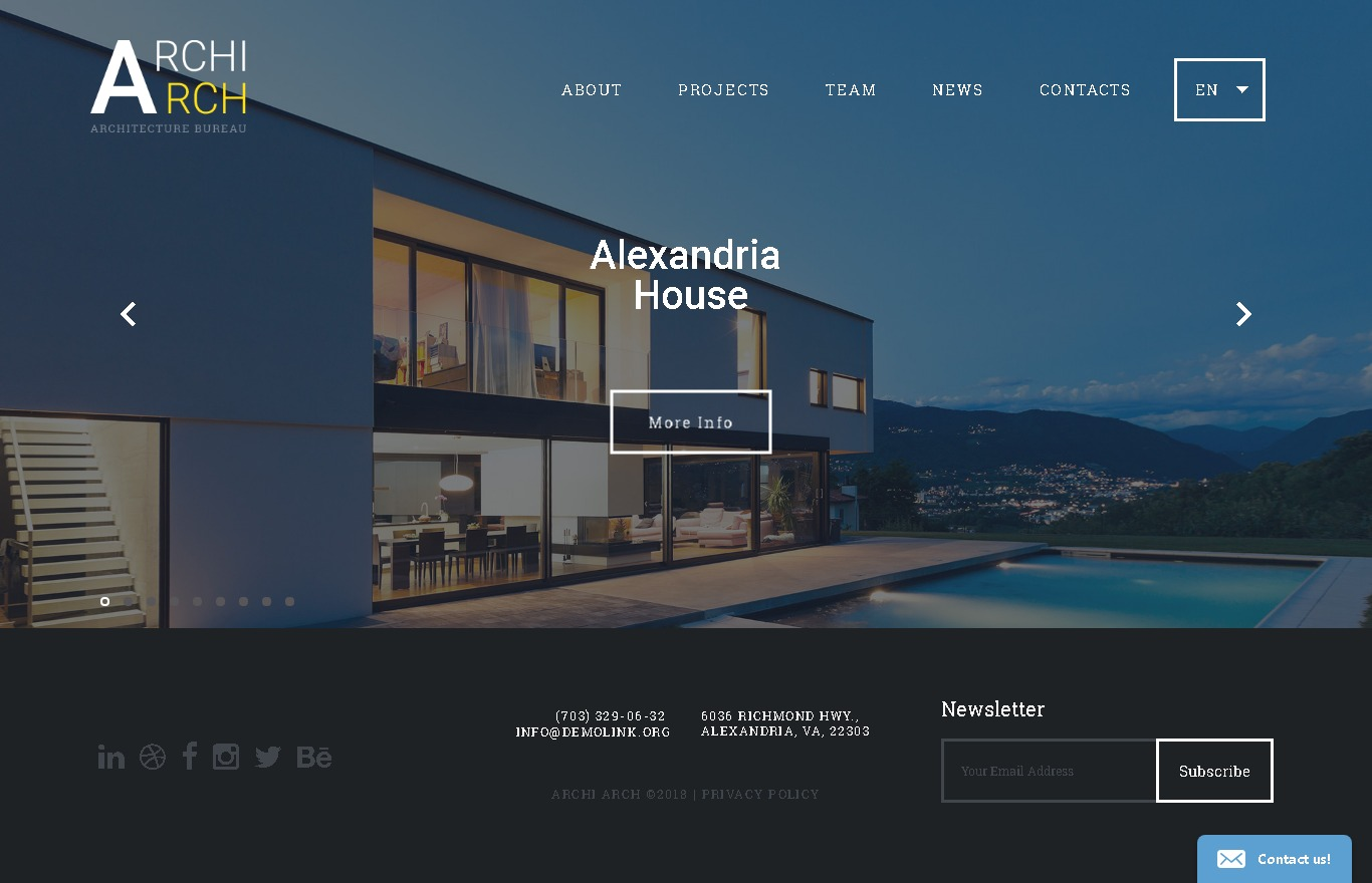 archiarch website template