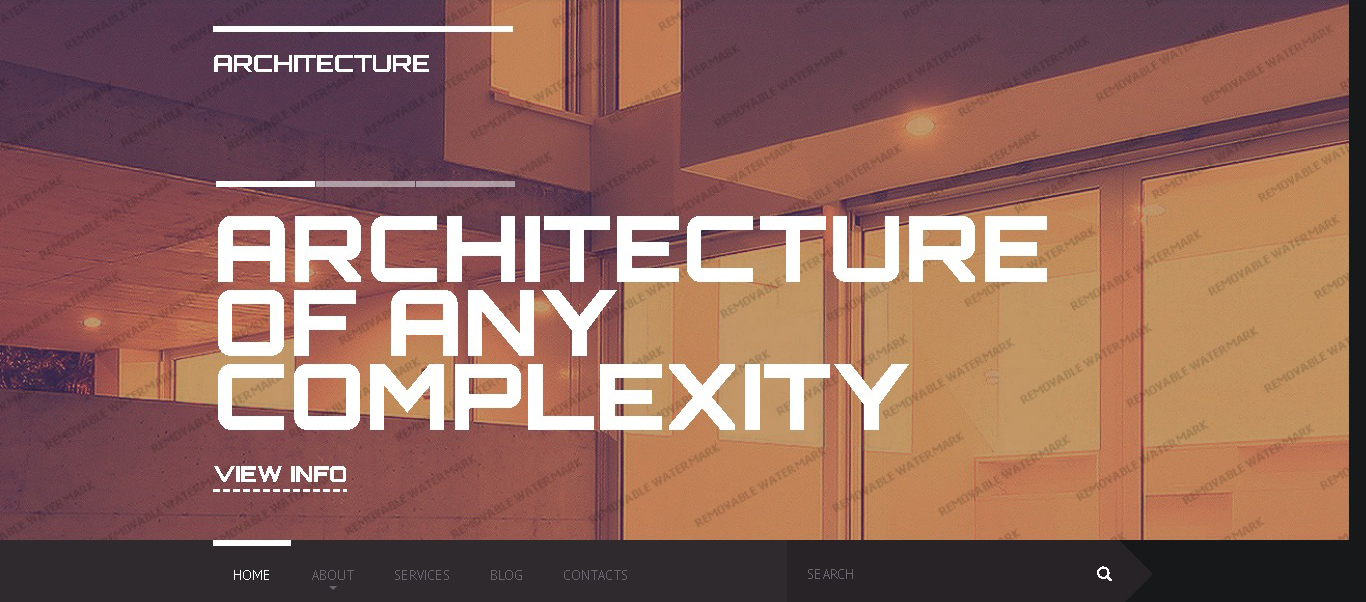 bold and celan architecture portfolio website design