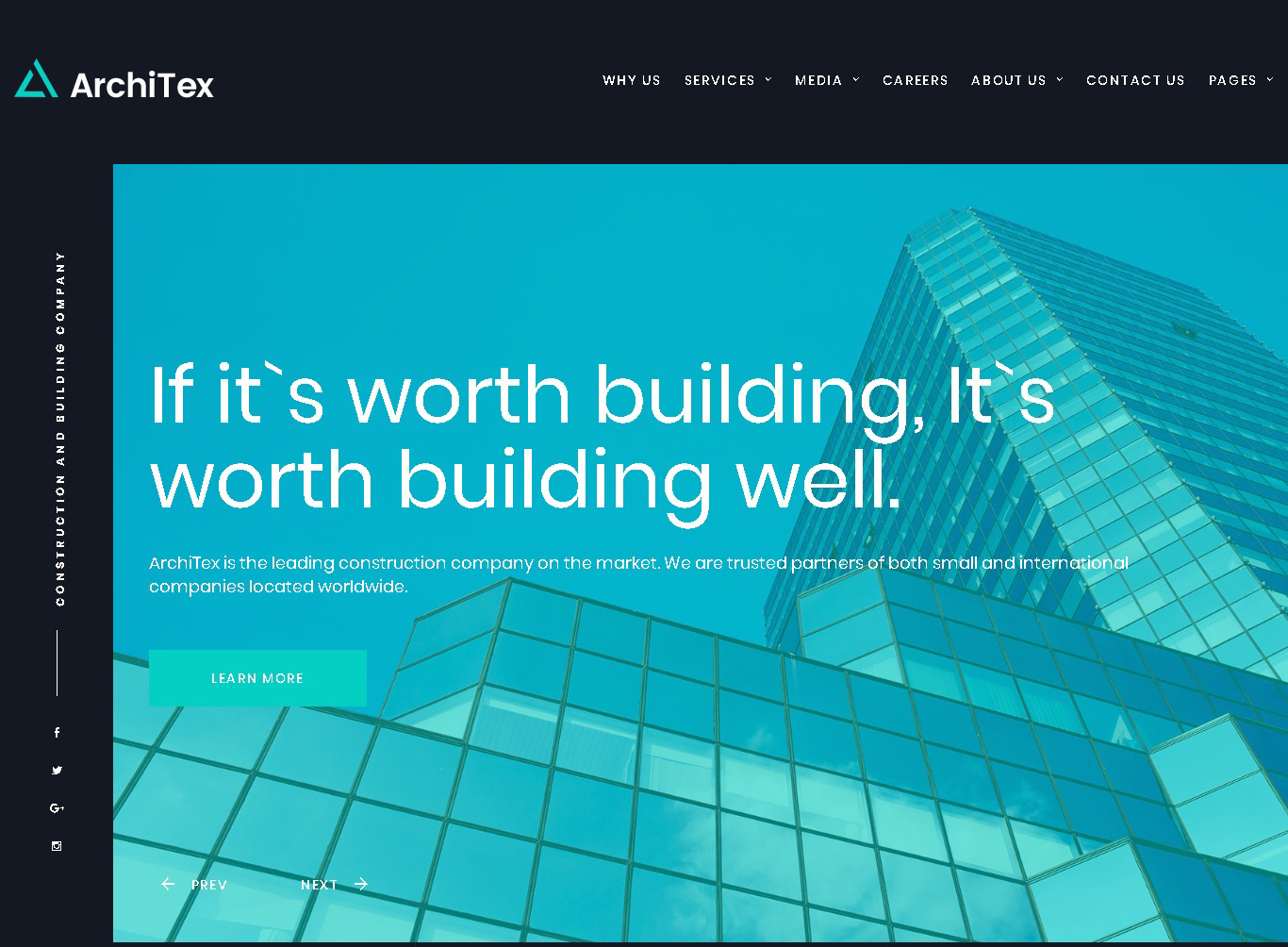 architex construction_company html responsive website template