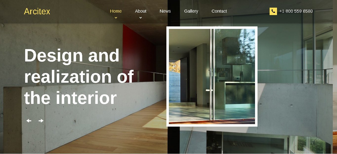 architecture interior designs website template