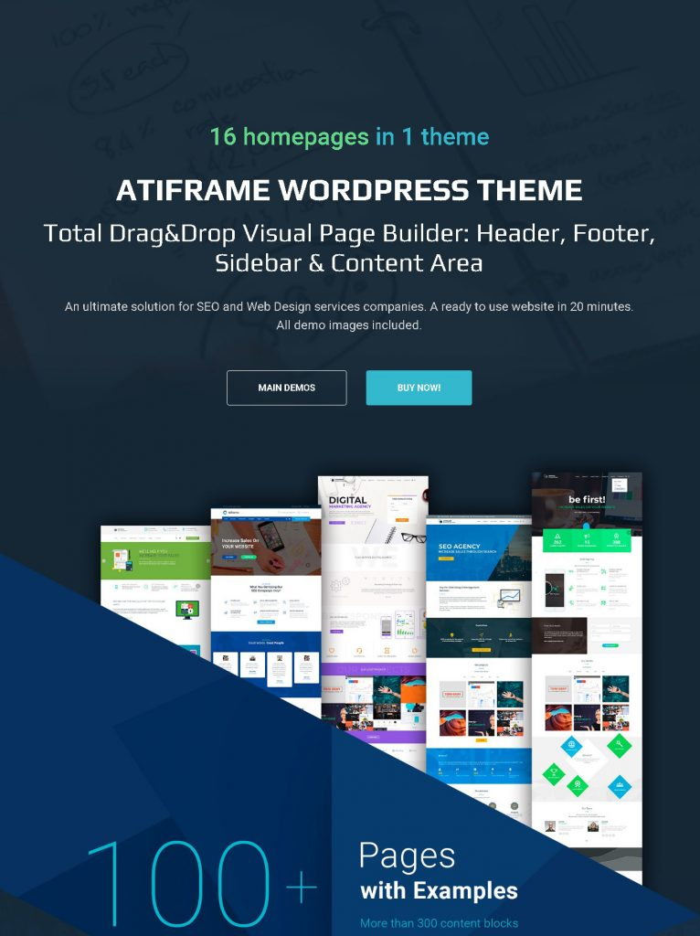 Atiframe - SEO and Web Design Company WordPress Theme