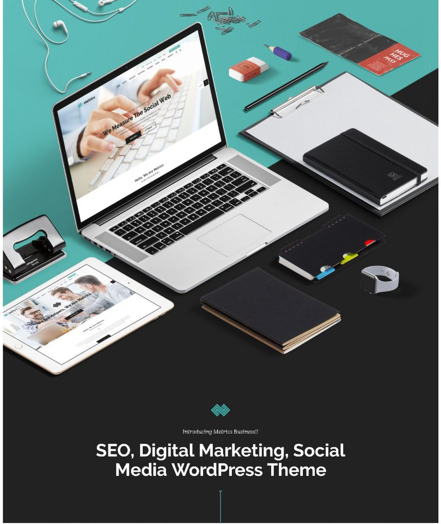 SEO Metrics - SEO, Digital Marketing, Social Media WordPress Theme