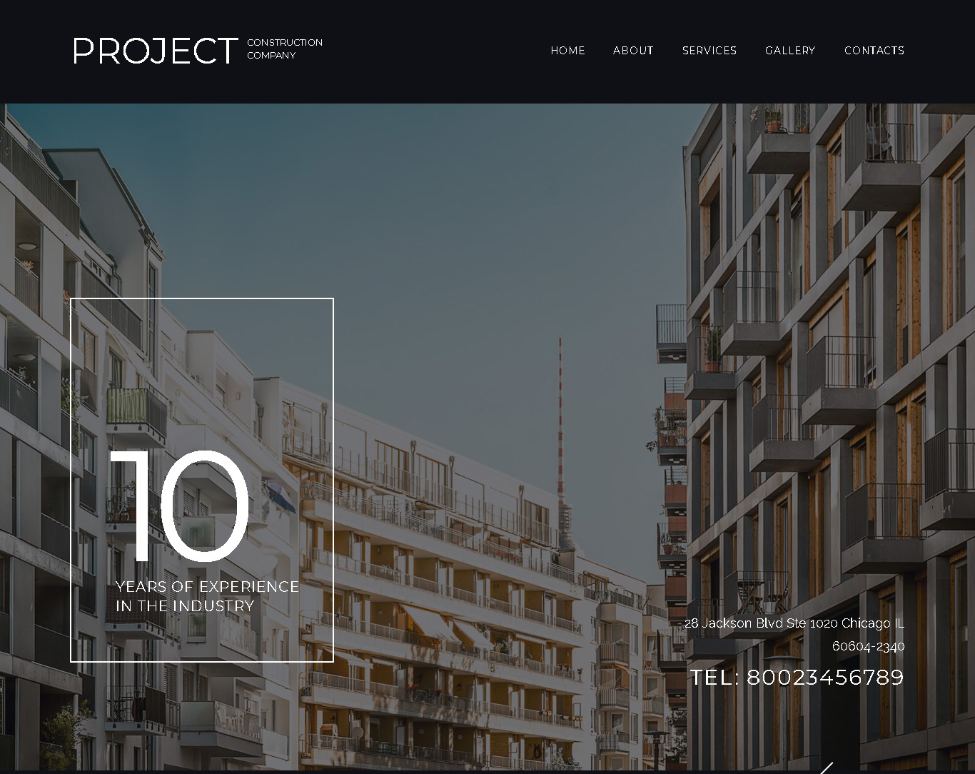 architecture project construction company website template