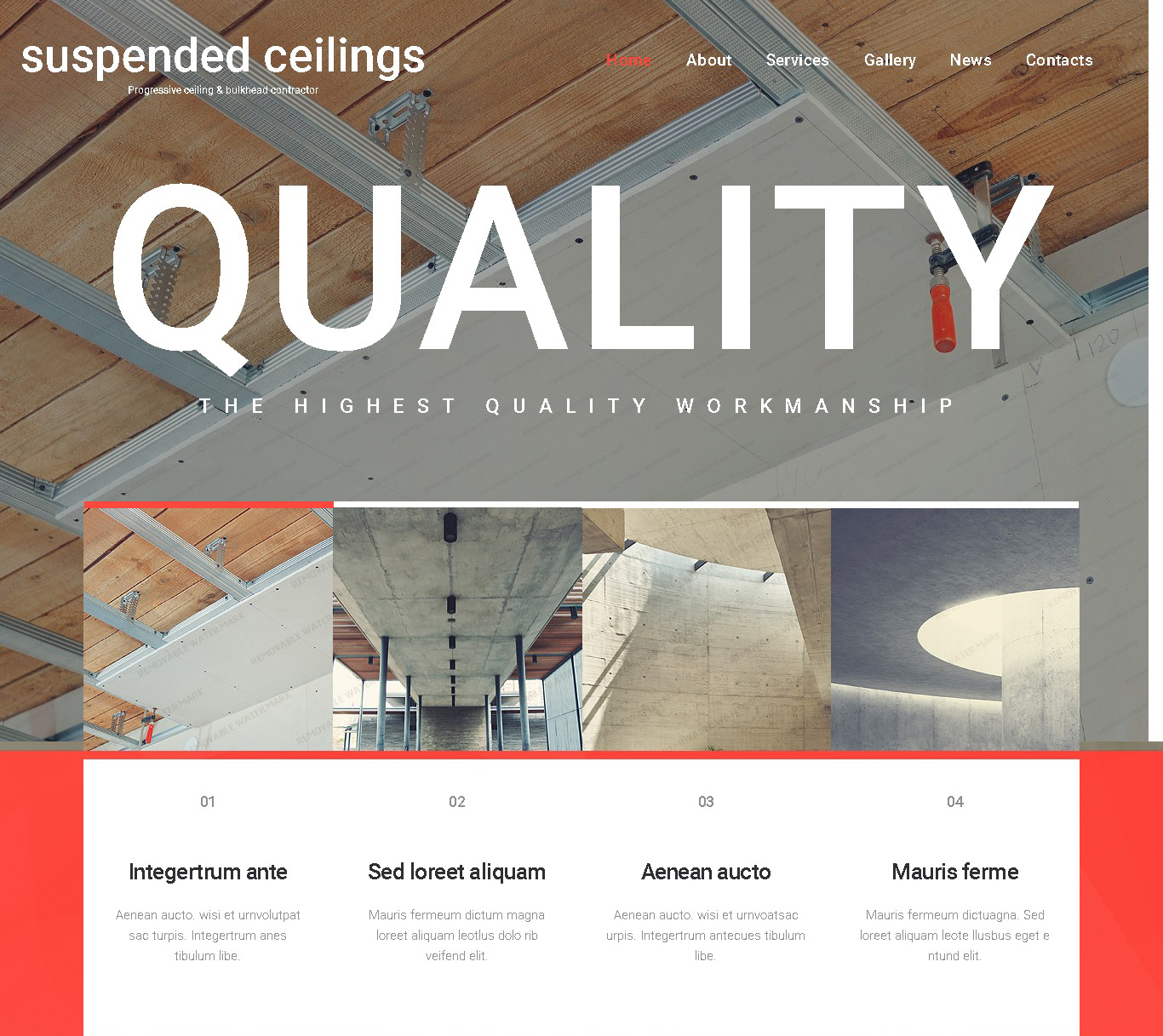 suspended ceilings website template