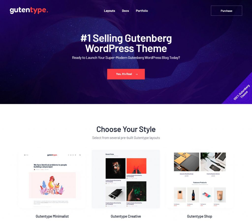 Gutentype | 100% Gutenberg WordPress Theme for Modern Blog