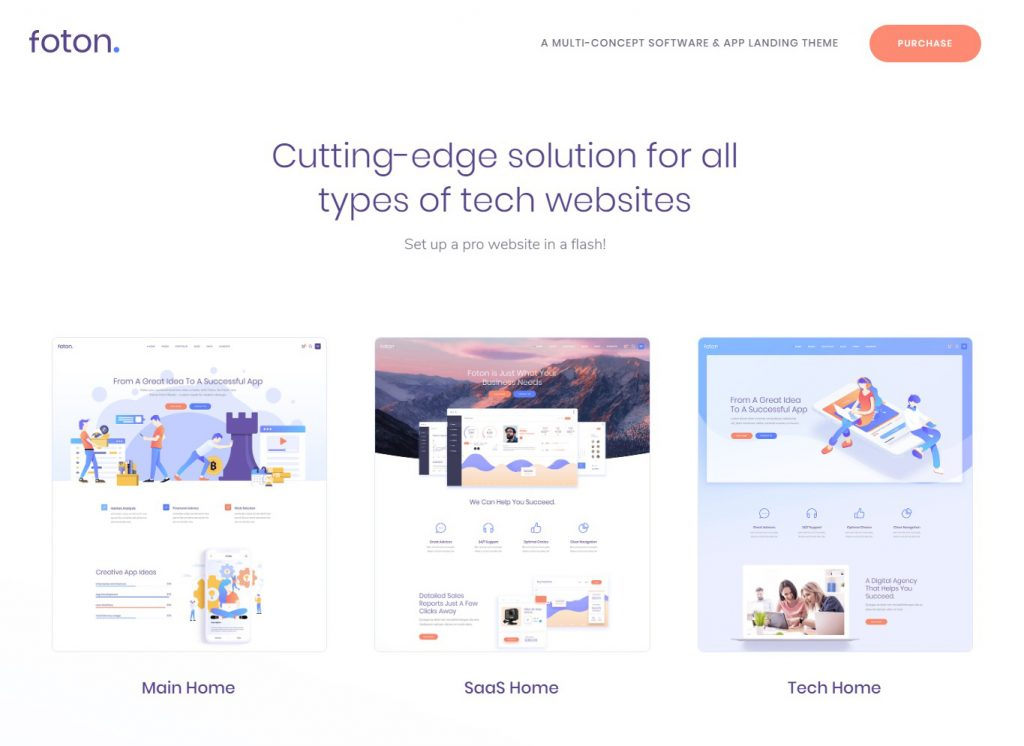 Foton - A Multi-concept Software and App Landing Theme