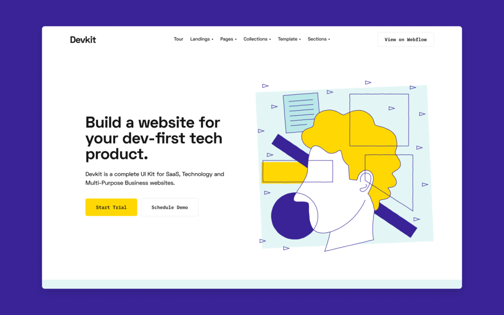 Devkit includes everything you need to launch your tech product or project site, from landing pages to inner pages and utilities.