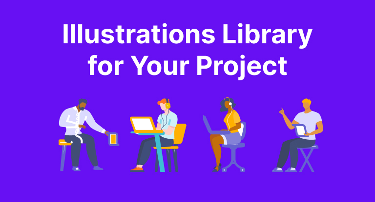 open source Illustrations Library for Your Project from DrawKit