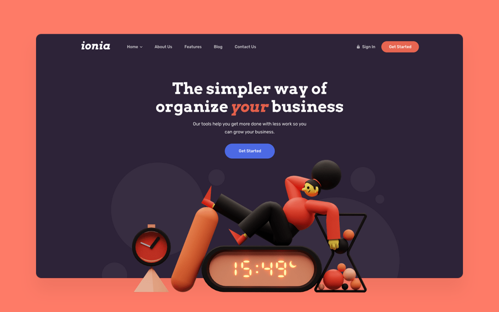 Ionia - SaaS Website Template