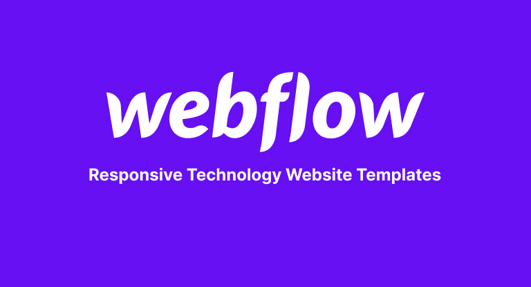 Responsive Technology Website Templates from Webfow