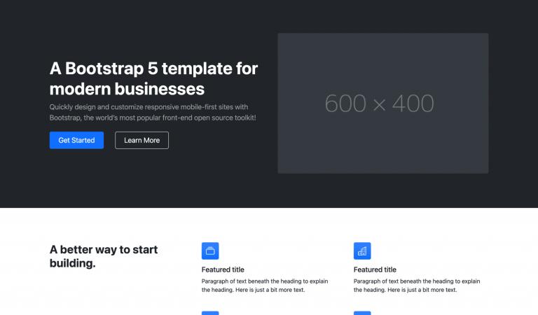Start Bootstrap - Modern Business Bootstrap 5 website template