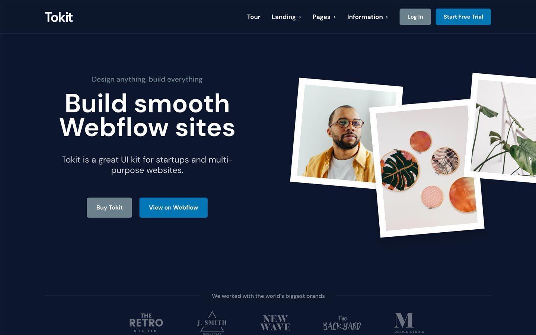 Tokit - Startup Webflow Template