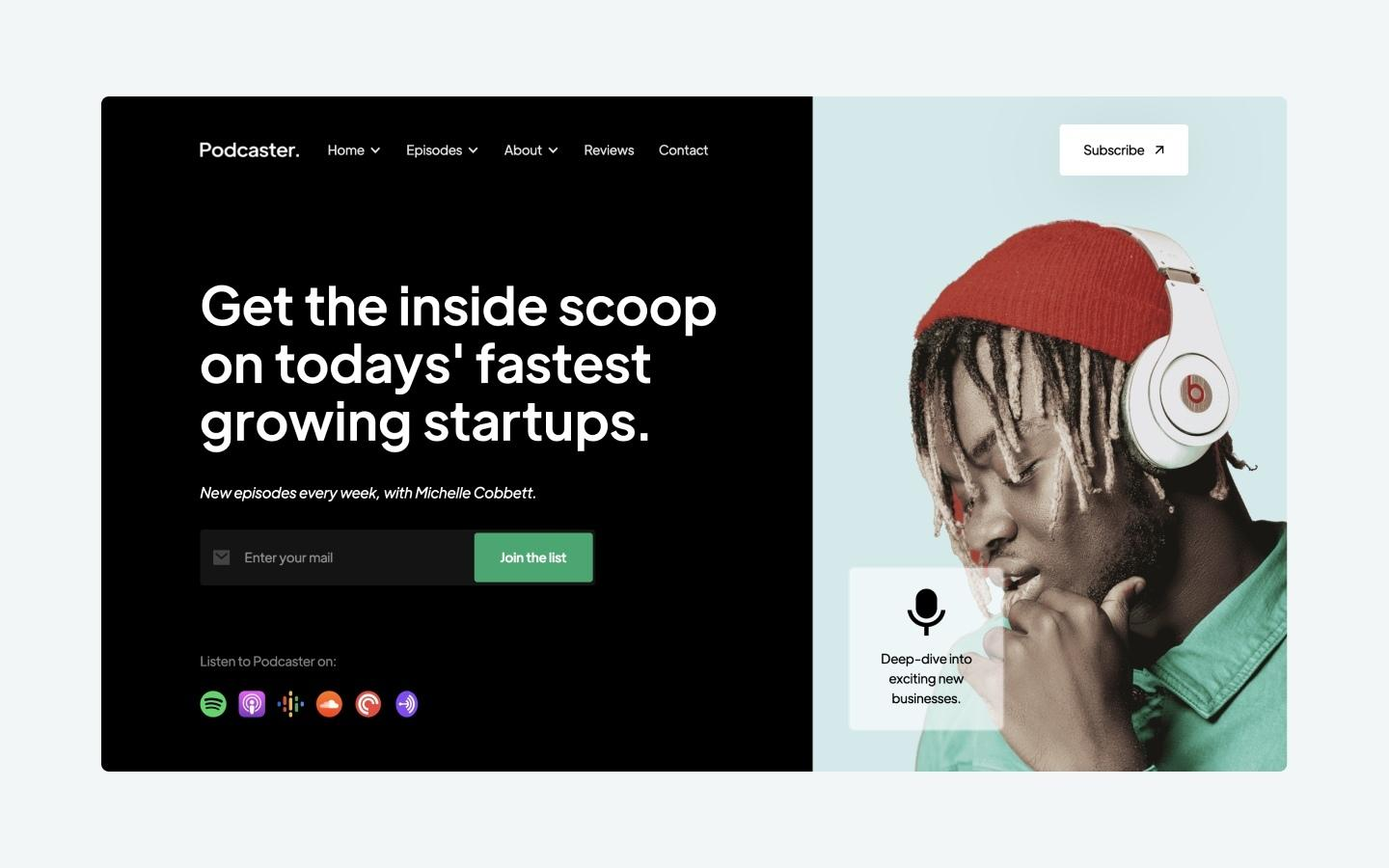 Podcaster - Podcast Webflow Template