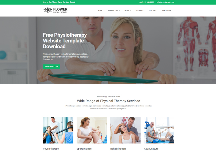 Physiotherapy Free Website Template Download