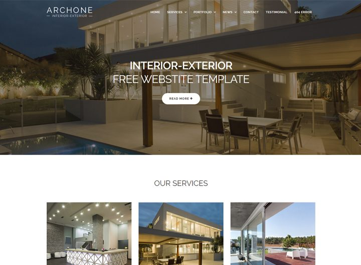 Interior Design Website Templates Free Download