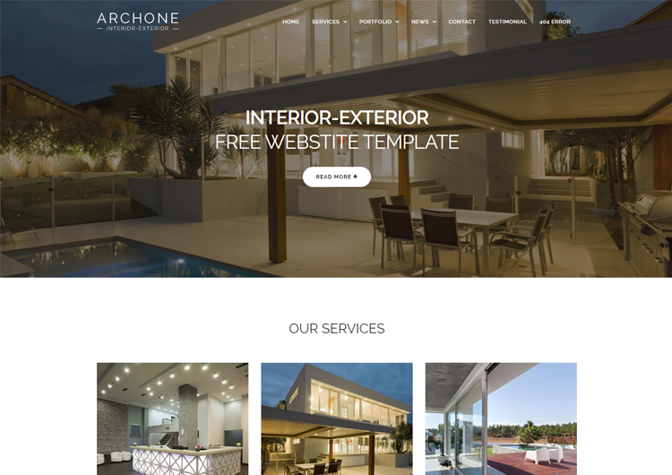 Interior Design Website Templates Free Download Ease Template Adorable Interior Design Web Templates