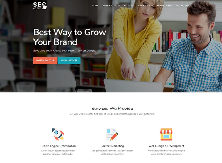 seo agency marketing responsive website template