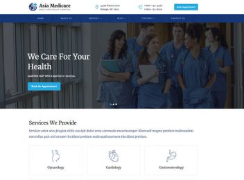 Asia Multispeciality Hospital Website Template
