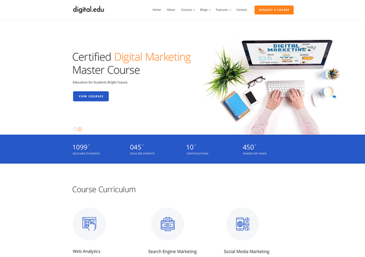 digital marketing courses website template ease template. Black Bedroom Furniture Sets. Home Design Ideas