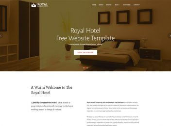 Royal Hotel Rooms Booking Website Template