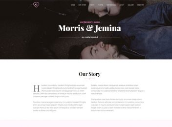 wedding website template personal couple