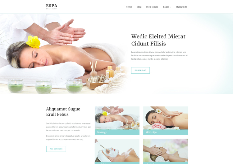 Spa Salon Free Website Template