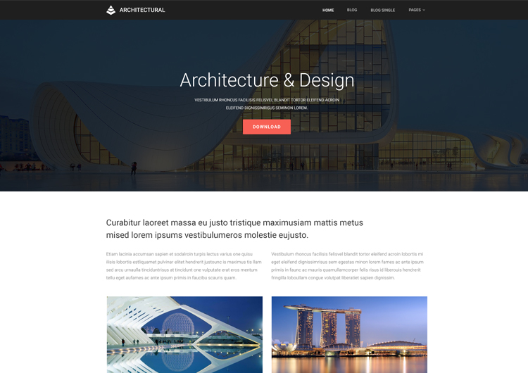 architecture website templates