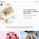 jessica nutritionist dietician website template