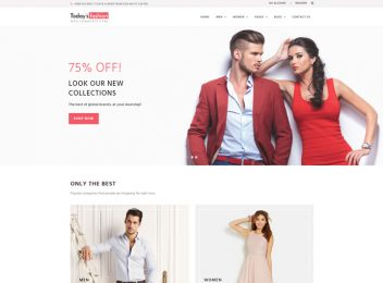 Today Fashion a Free Ecommerce Website Templates