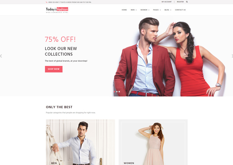 Today Fashion A Free Ecommerce Website Templates Ease Template