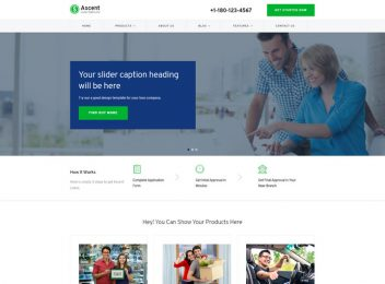 Loan Business Responsive Website Templates