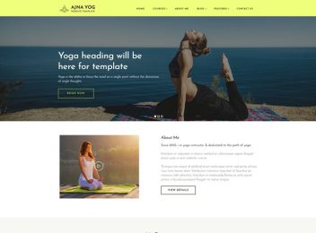ajna yoga instructor responsive website templates