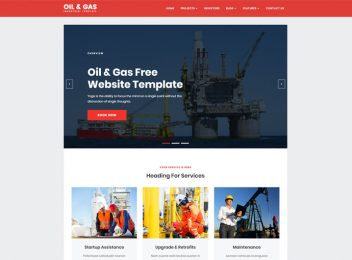 Oil Gas Industrial Responsive Website Templates