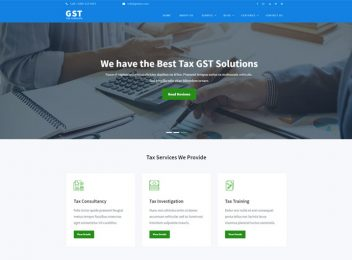 Tax Consultant Accountant Business Website Template